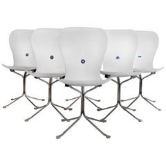 Gideon Kramer Ion Dining Chairs Set of Six in Flat White