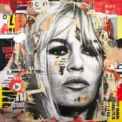 Brigitte, Pop Art Portrait of Brigitte Bardot