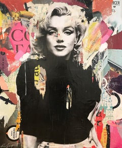 """Defy Gravity"" Marilyn Monroe Portrait Pop Art Street Art Painting"