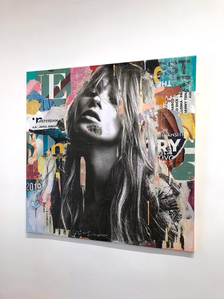 It's a Sin to Be Tired, Pop Art Portrait of Kate Moss 14