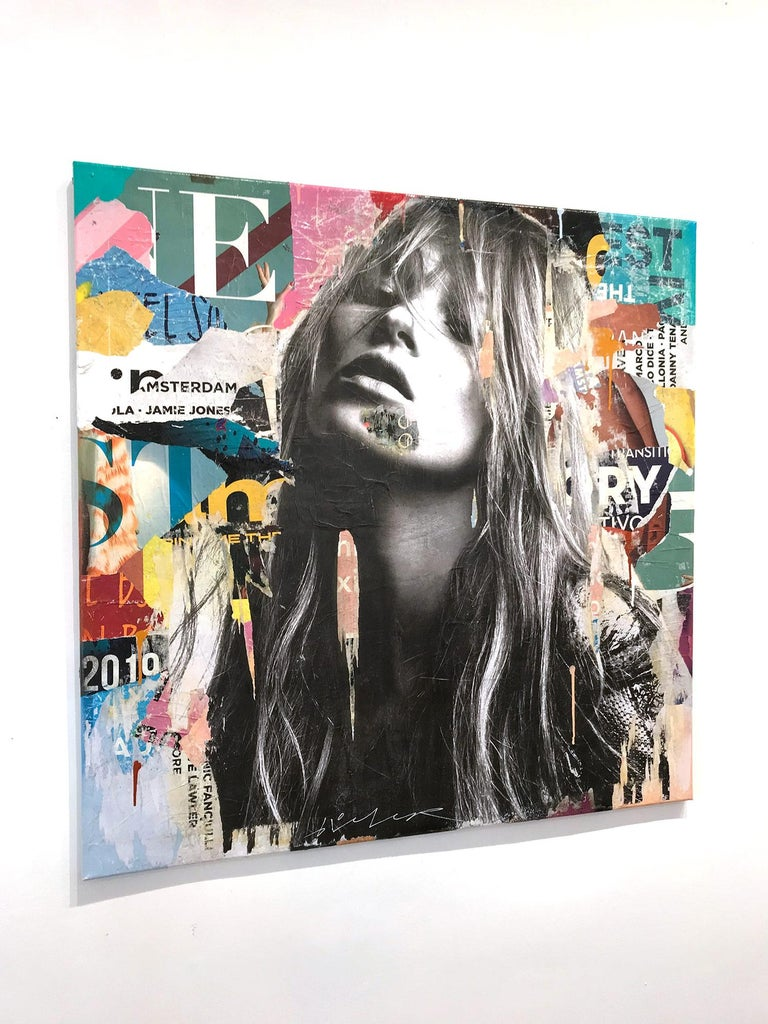 It's a Sin to Be Tired, Pop Art Portrait of Kate Moss 15