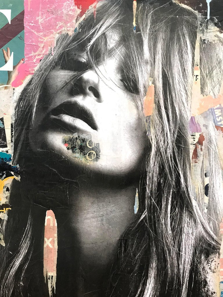 It's a Sin to Be Tired, Pop Art Portrait of Kate Moss - Painting by Gieler