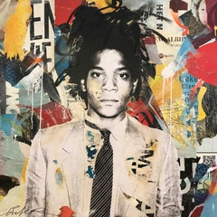 """Jean Michel"" Basquiat Portrait Pop Art Street Art Painting"