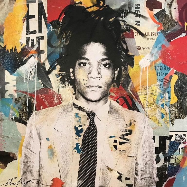 "Gieler Abstract Painting - ""Jean Michel"" Basquiat Portrait Pop Art Street Art Painting"