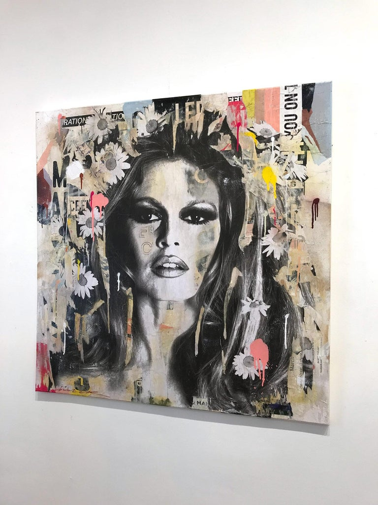 She's Your Friend, Pop Art Portrait of Brigitte Bardot For Sale 13