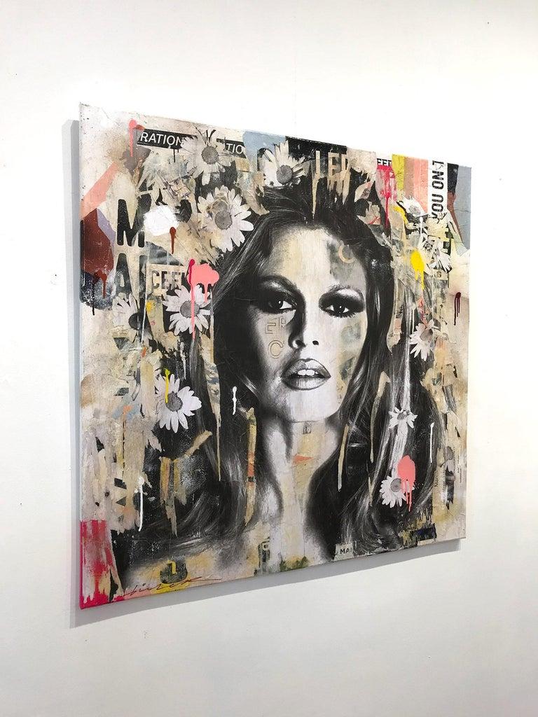 She's Your Friend, Pop Art Portrait of Brigitte Bardot For Sale 14