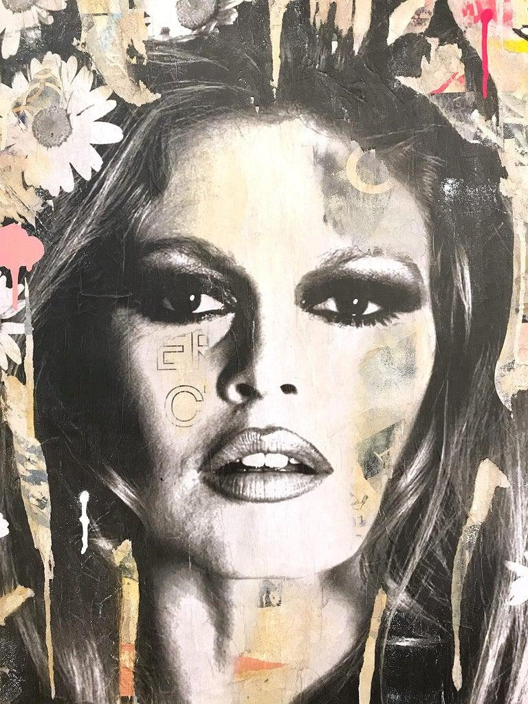 She's Your Friend, Pop Art Portrait of Brigitte Bardot - Painting by Gieler