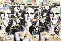 """We're Your Friends"" Portrait of Brigitte Bardot Pop Art Street Art Painting"