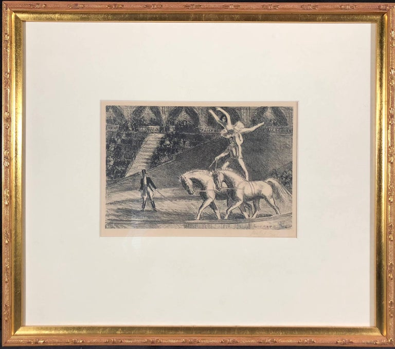 Bareback Act, Old Hippodrome - Print by Gifford Beal