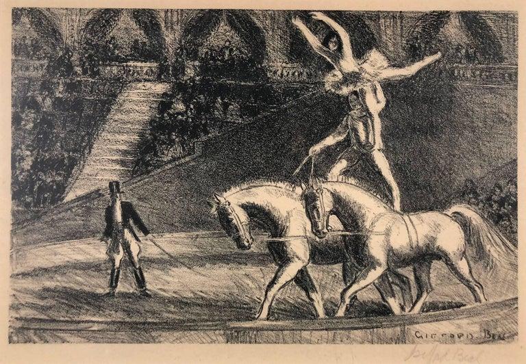 Gifford Beal Figurative Print - Bareback Act, Old Hippodrome