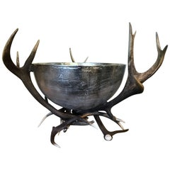 Gigantic Champagne Cooler Made of Red Deer Antler