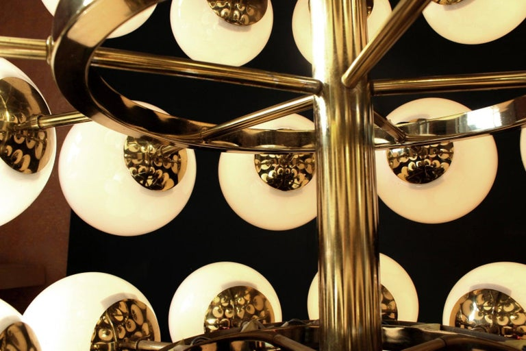 Glass Gigantic Cinema Concert Hall Ceiling Lamp, Germany, 1960s-1970s For Sale