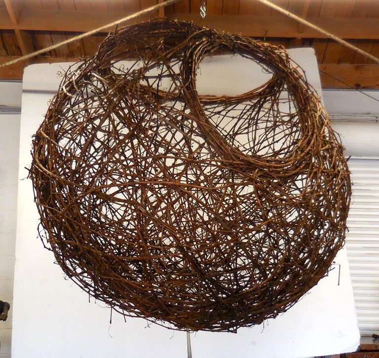 Gigantic Grapevine Bird's Nest Sculpture For Sale 10