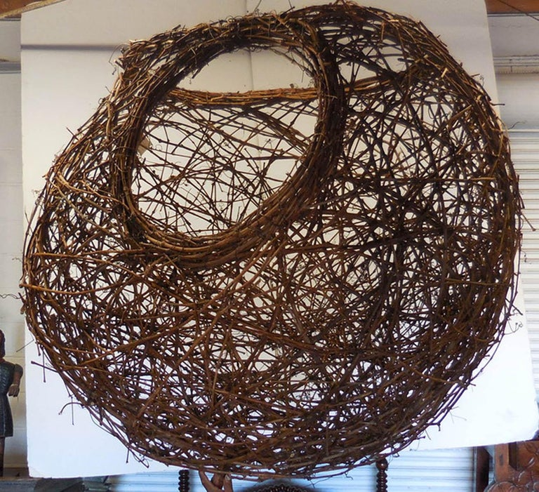 Gigantic Grapevine Bird's Nest Sculpture In Excellent Condition For Sale In Los Angeles, CA