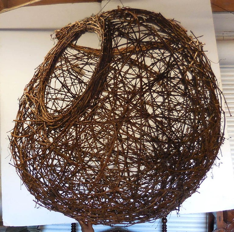 Gigantic Grapevine Bird's Nest Sculpture For Sale 1