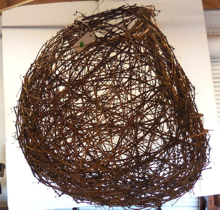 Gigantic Grapevine Bird's Nest Sculpture For Sale 3