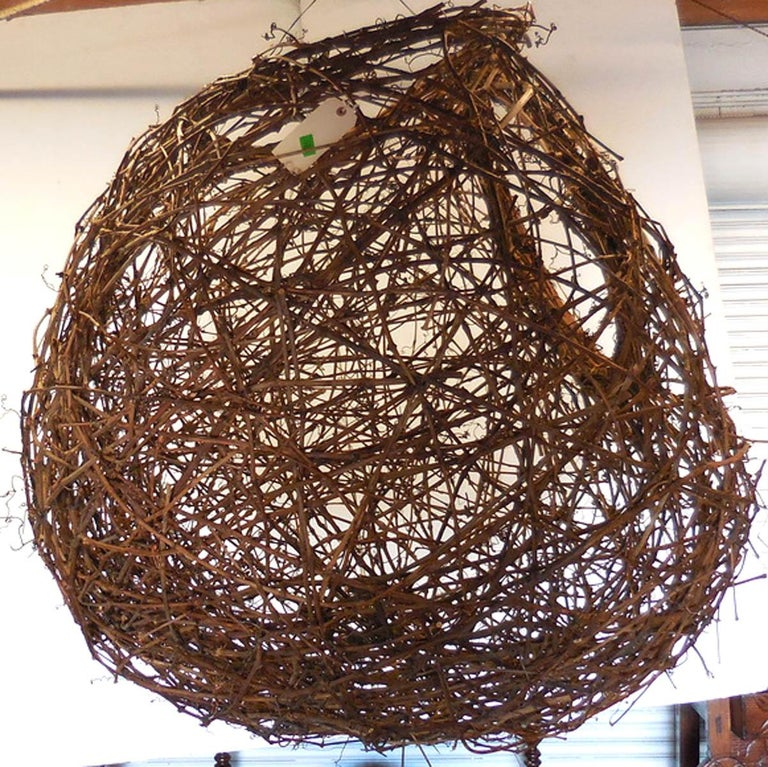 Gigantic Grapevine Bird's Nest Sculpture For Sale 4
