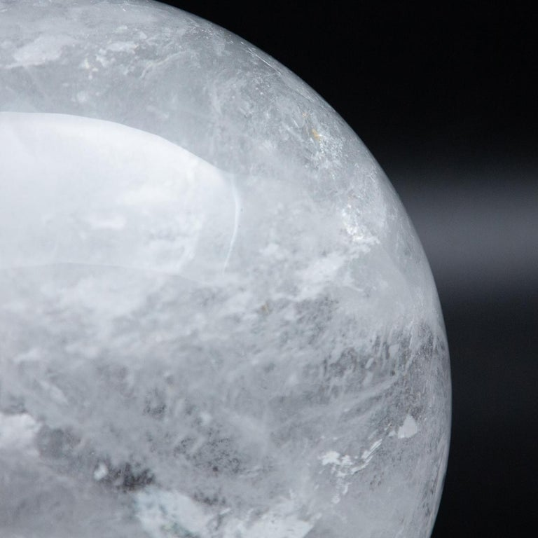 Gigantic Rock Crystal Sphere In New Condition For Sale In New York, NY