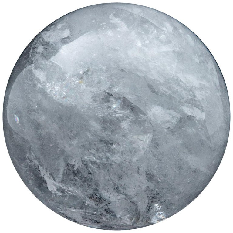 Gigantic Rock Crystal Sphere For Sale