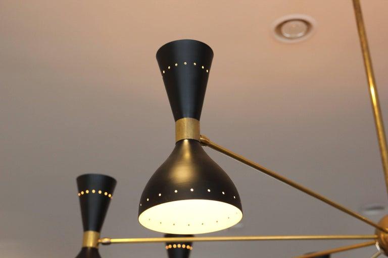 Gigantic Stilnovo Style Chandelier For Sale 1