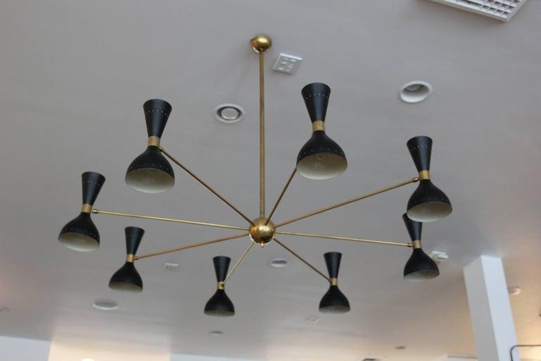 Gigantic Stilnovo Style Chandelier For Sale 2