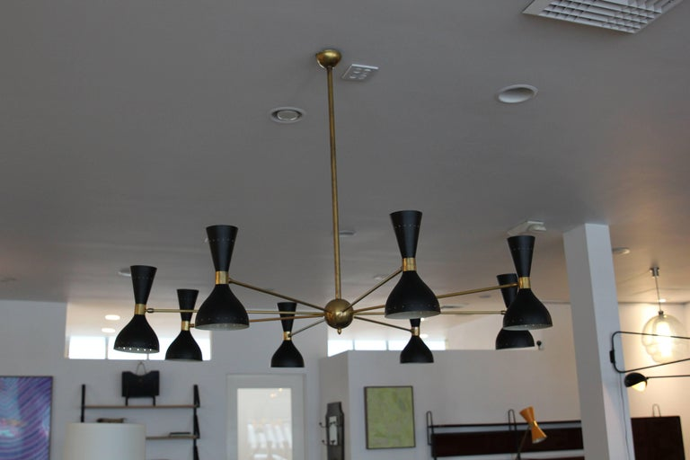 Gigantic Stilnovo Style Chandelier For Sale 3