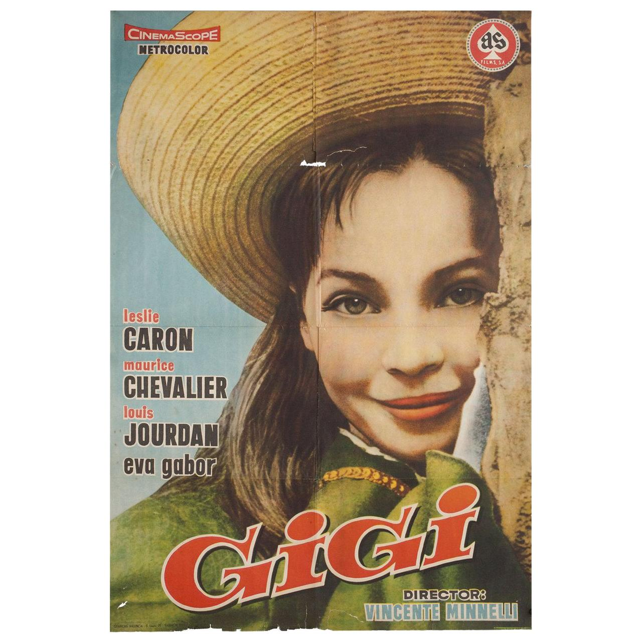 """Gigi"" 1959 Spanish B1 Film Poster"