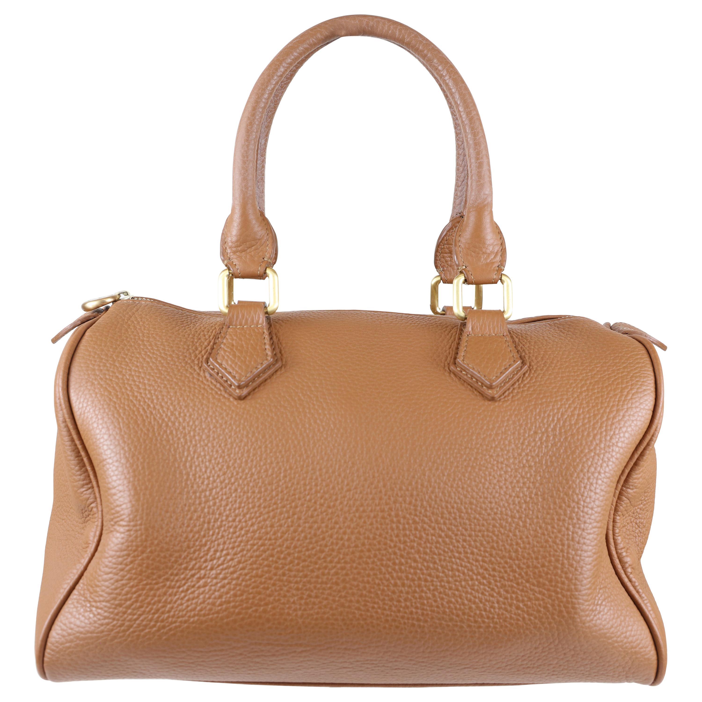 GiGi New York Brown Leather Handle Bag