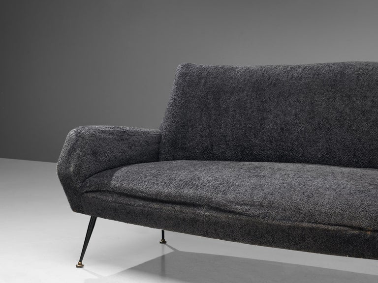 Metal Gigi Radice Curved Sofa for Minotti For Sale