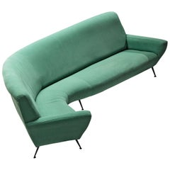 Gigi Radice for Minotti Curved in Green Upholstery