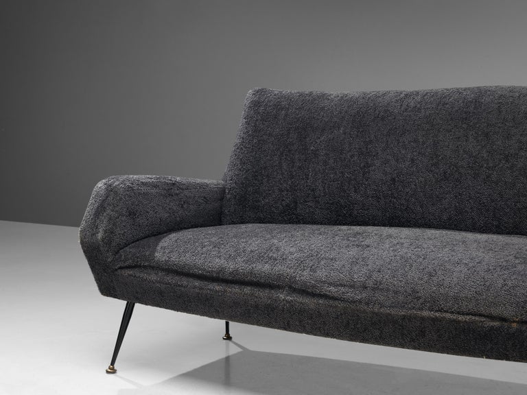 Gigi Radice for Minotti Curved Sofa in Grey Upholstery For Sale 2