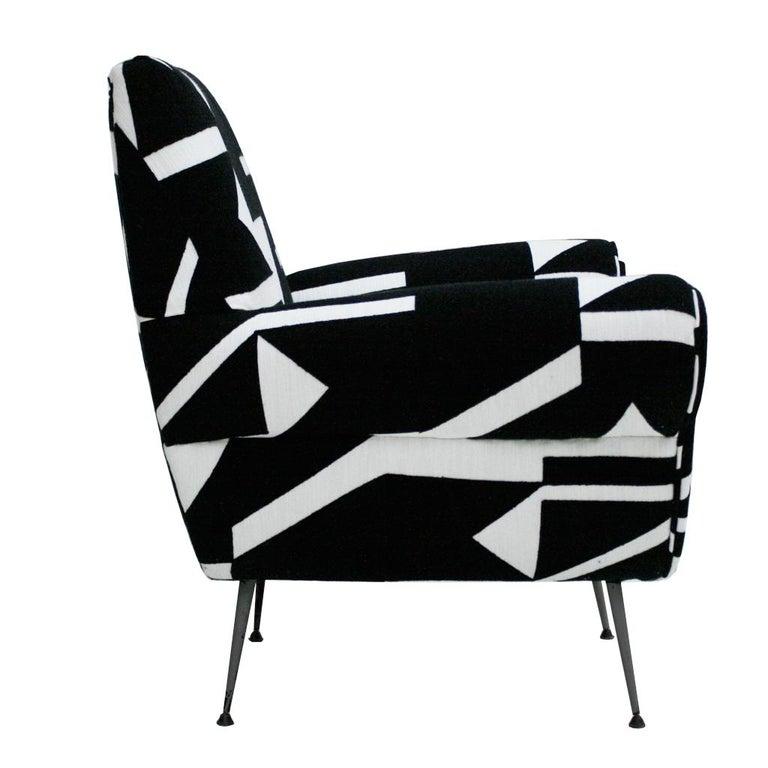 Mid-20th Century Gigi Radice for Minotti Mid-Century Modern Pair of Italian Armchairs, 1950s