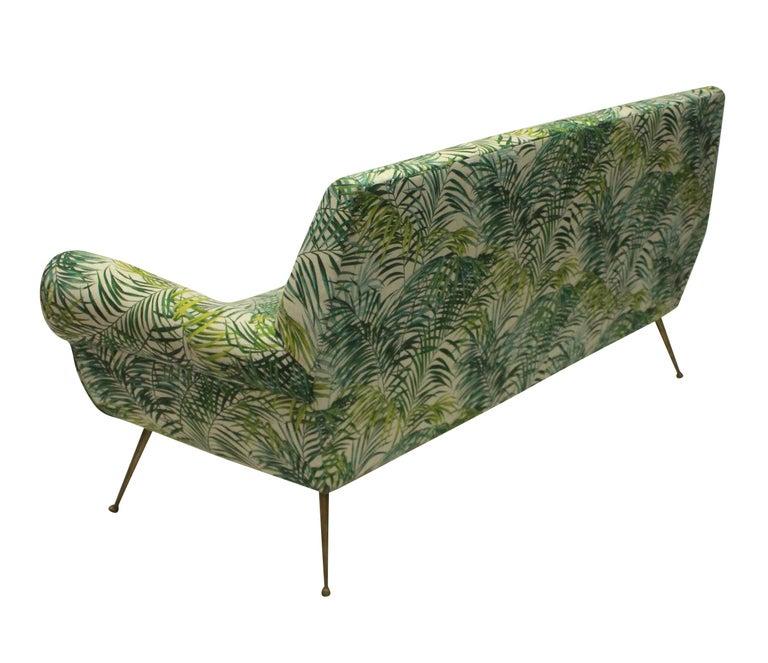 Italian Gigi Radice for Minotti Sofa in Palm Print Linen
