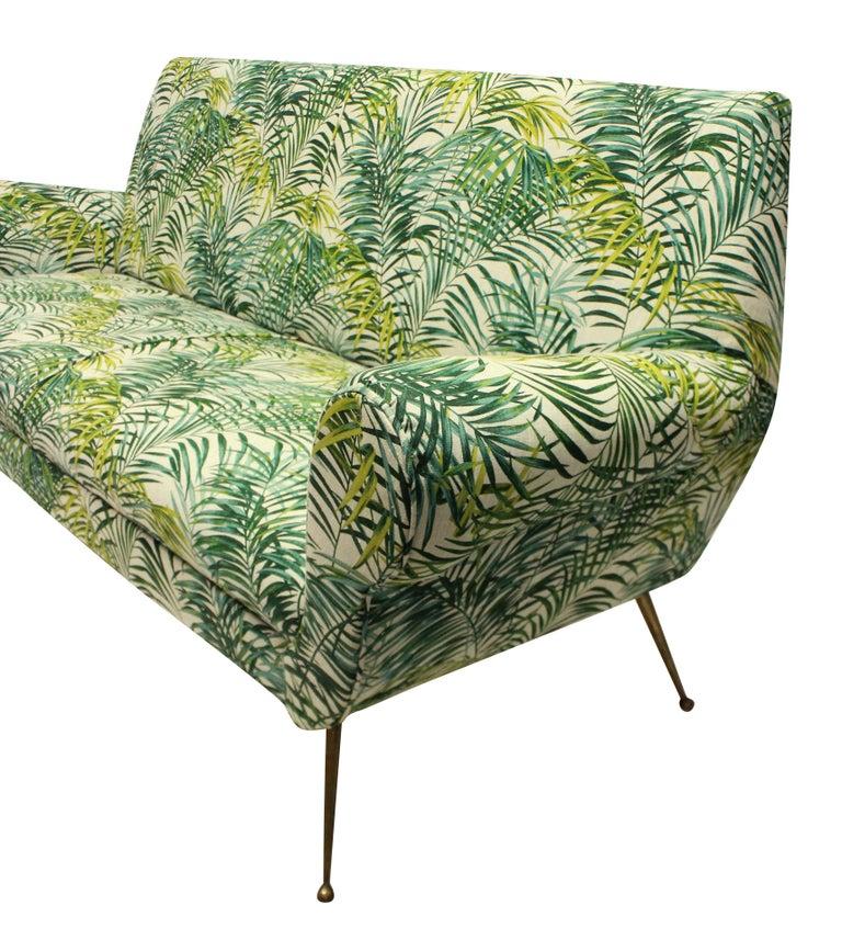 Gigi Radice for Minotti Sofa in Palm Print Linen In Good Condition In London, GB