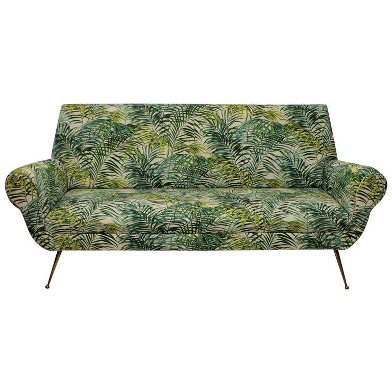 Gigi Radice for Minotti Sofa in Palm Print Linen