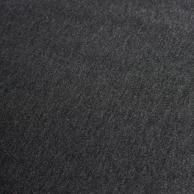 Gigi Radice Italian Settee Loveseat in Charcoal Gray Mohair For Sale 1