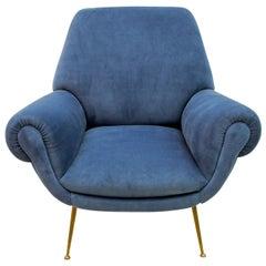 Gigi Radice Mid-Century Modern Italian Armchair for Minotti, 1950s