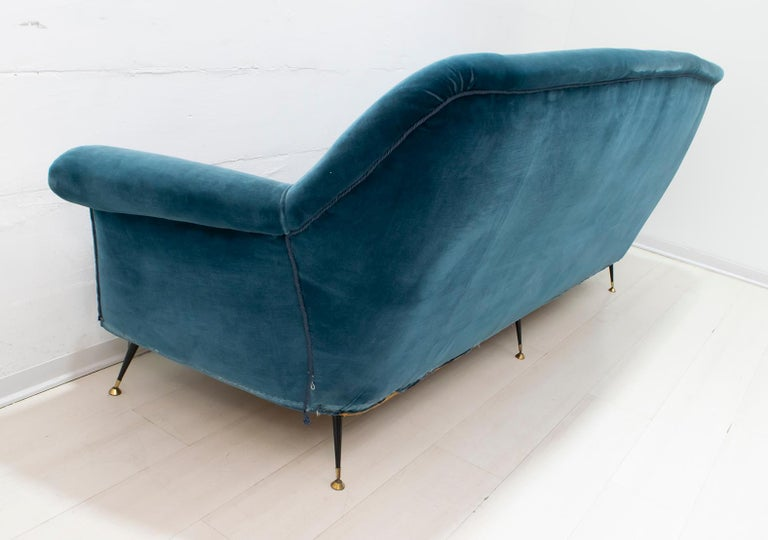 Gigi Radice Mid-Century Modern Italian Sofa and Two Armchairs for Minotti, 1950s For Sale 14