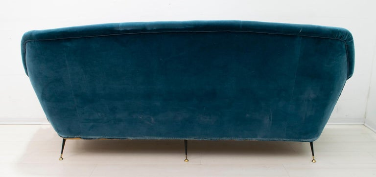 Gigi Radice Mid-Century Modern Italian Sofa and Two Armchairs for Minotti, 1950s For Sale 15