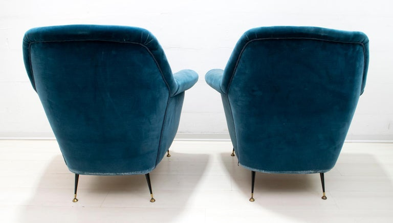 Gigi Radice Mid-Century Modern Italian Sofa and Two Armchairs for Minotti, 1950s For Sale 2