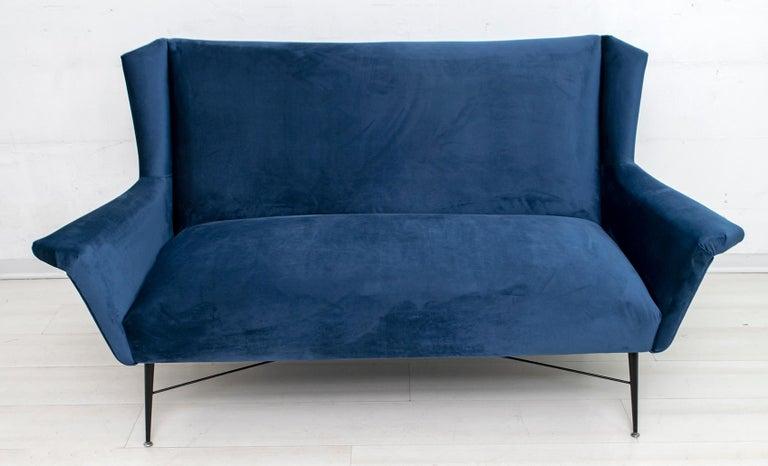 Gigi Radice Mid-Century Modern Italian Sofa for Minotti, 1950s In Good Condition For Sale In Cerignola, Italy Puglia