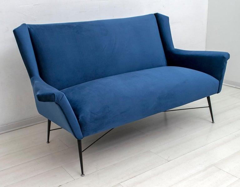 Mid-20th Century Gigi Radice Mid-Century Modern Italian Sofa for Minotti, 1950s For Sale