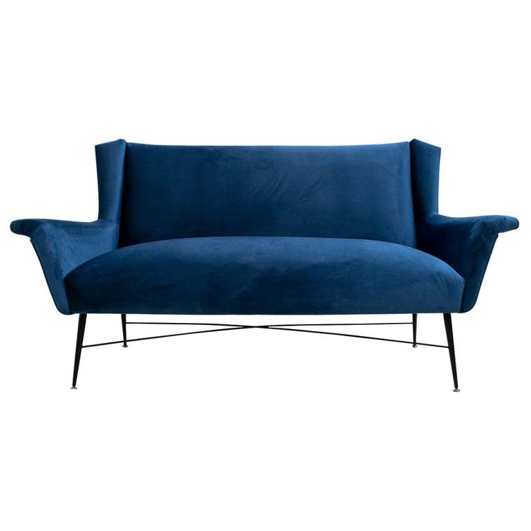 Gigi Radice Mid-Century Modern Italian Sofa for Minotti, 1950s For Sale