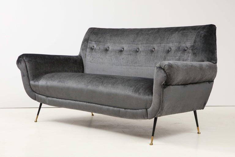 Gigi Radice Mid-Century Modern Velvet Sofa 5