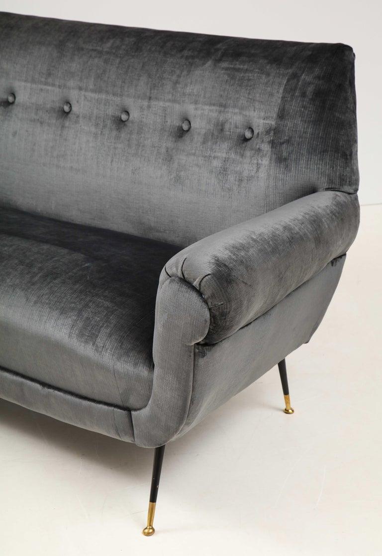 Gigi Radice Mid-Century Modern Velvet Sofa 6
