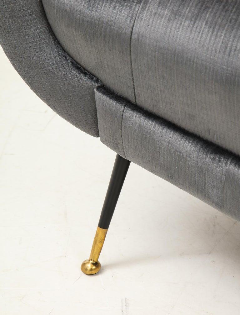 Gigi Radice Mid-Century Modern Velvet Sofa 8