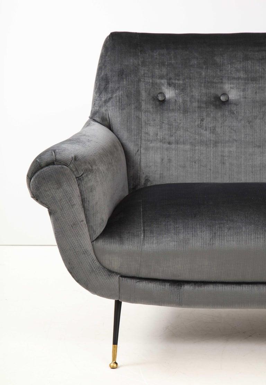 Mid-20th Century Gigi Radice Mid-Century Modern Velvet Sofa