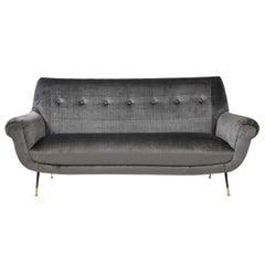 Gigi Radice Mid-Century Modern Velvet Sofa