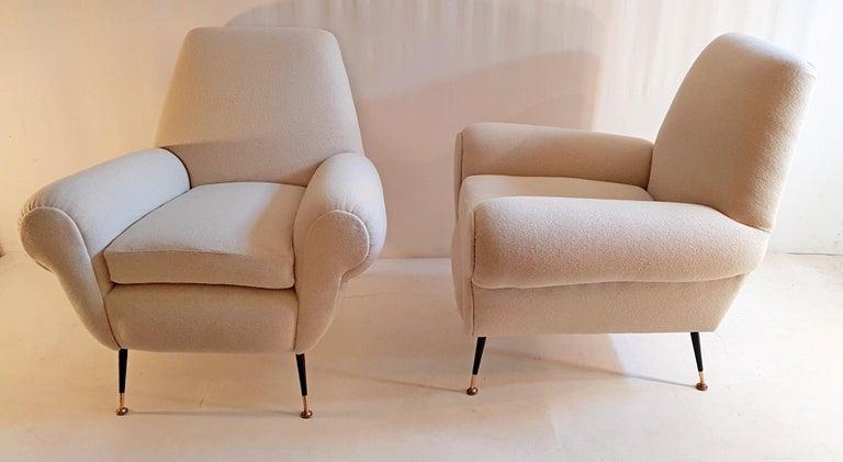 Gigi Radice Pair of Armchairs for Minotti In Excellent Condition For Sale In Albano Laziale, Rome/Lazio