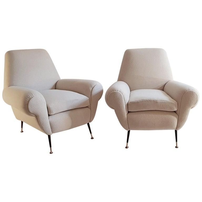 Gigi Radice Pair of Armchairs for Minotti For Sale